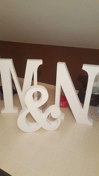 Letras gigantes boda en madrid wallapop for Letras gigantes para bodas baratas