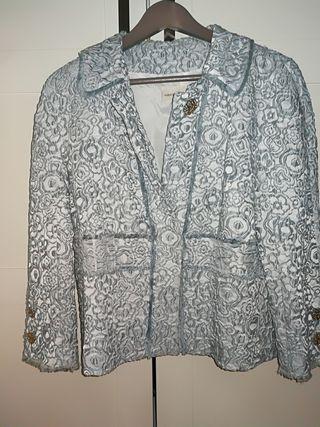 chaqueta brocada P.G, talla 44