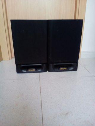 cajas de altavoces aiwa sin sonido