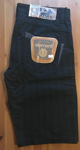 NUEVO Element pantalón corto shorts W36 VANS DC