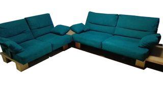 Sofá verde de diseño 3+2. ¡Ocasión!