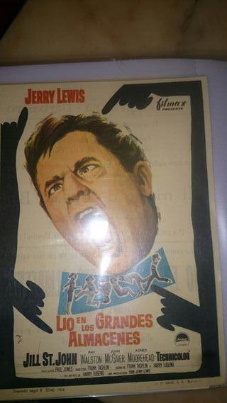 carteles de mano cine antiguo años 60