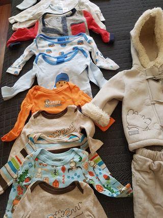lote de ropa bebé niño casi nuevo 0-3 meses
