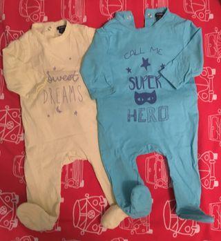 2 Pijamas de bebe talla 3 meses