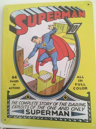 Placa metal Superman