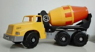 camión hormigonera grande juguete