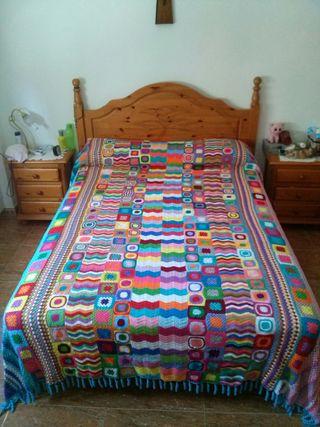 colcha hilo crochet 667929335