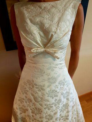 vestido de novia rosa clara de segunda mano en a coruña en wallapop