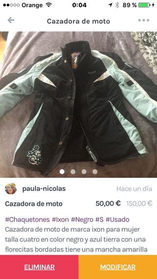 Chaqueta moto mujer santiago