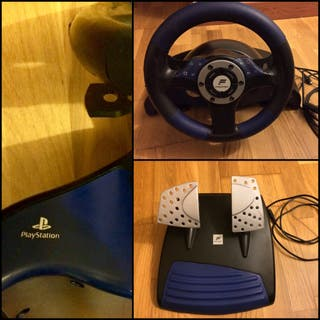 VOLANTE Y PEDALES-PS2-PS3-PS ONE-PC