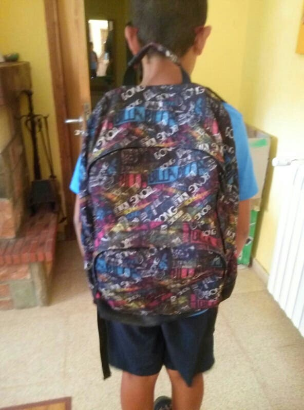 mochila de niño