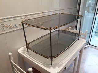 mesa de centro de bronce
