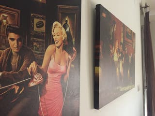 Cuadros Marilyn, Elvis y James Dean vintage