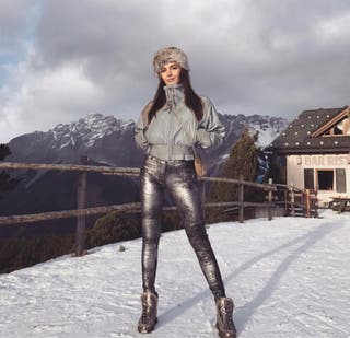 Pantalones plateados Zara