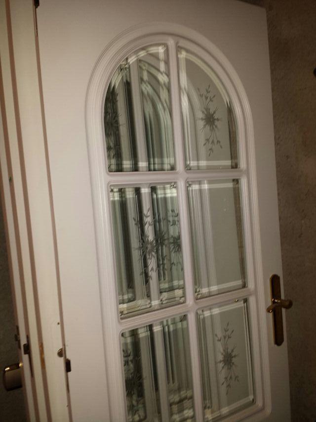 Puertas Macizas Blancas Cristales Viselados Grabad De
