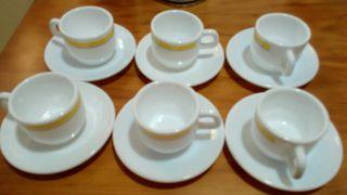 juego de tazas para el cafe 6 und