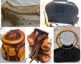 bolsos cuero y mochila