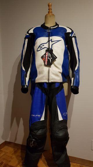 Cazadora moto piel Alpinestars MX1