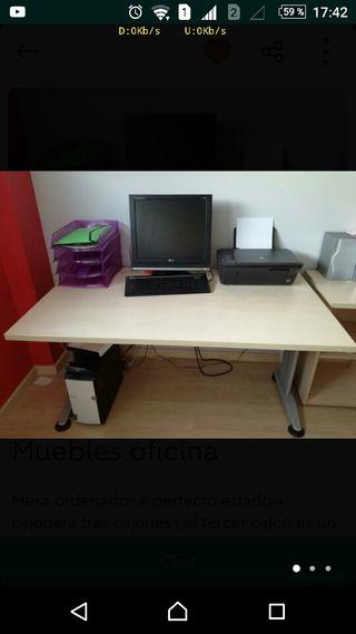Mesa estudio Oficina madera de arce