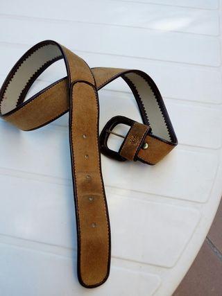 Cinturon de ante y piel