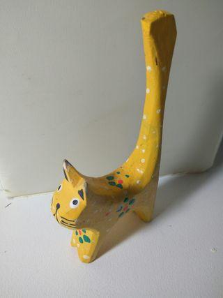 Anillero gato amarillo