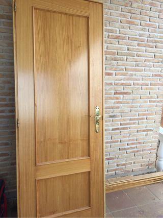 puertas de madera lacadas de segunda mano en wallapop