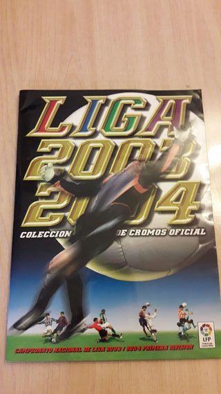 Álbum casi completo cromos Liga 2003-2004