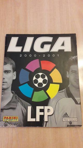 Album cromos incompleto Liga 200-2001