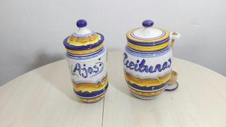 Ceramica alcaide 2 tarros de cocina 30cm