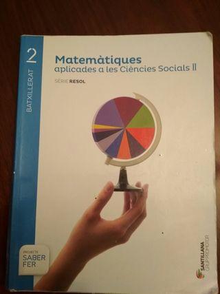 libro matematicas 2 bachillerato en valenciano