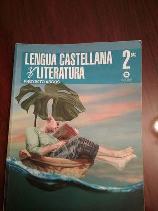 libro lengua castellana y literatura 2 bachiller