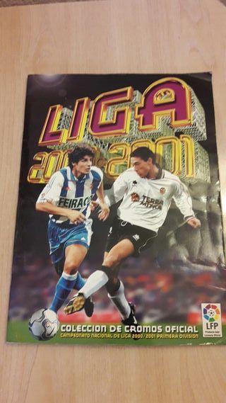 Album cromos incompleto Liga 2000-2001