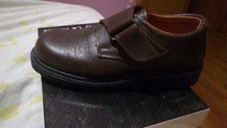 Zapatos colegio marrón 33