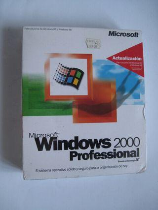 Software original precintado Windows 2000 caja