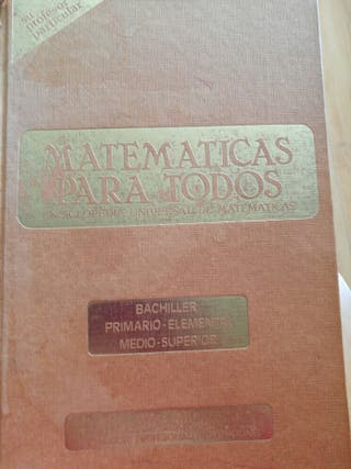 Libro Matemáticas para todos