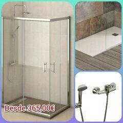 Mampara de ducha plato de ducha monomando de segunda - Mamparas de ducha de segunda mano ...