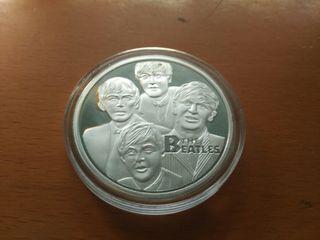 Moneda conmemorativa plata los beatles musica