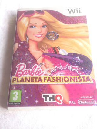 Juego para la Wii Barbie planeta Fashionista