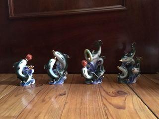 Lote 4 figuras delfin