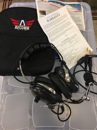 Head Set AVCOMM Aviacion