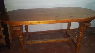 Mesa GRANDE de madera maciza
