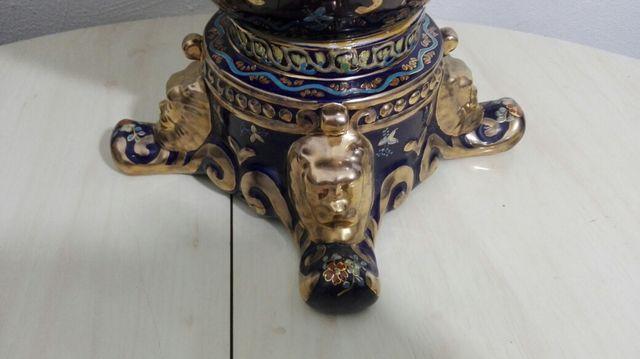 Gran jarron porcelana pintada a mano
