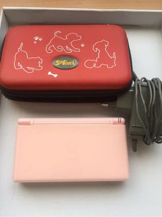 Nintendo ds lite rosa.
