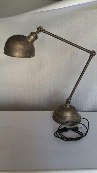 LAMPARA de SOBREMESA de BRONCE