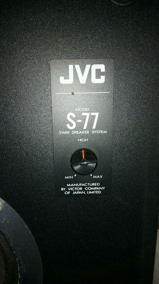 altavoces JVC S-77R JAPONESES ORIGINALES AUTÉNTICO