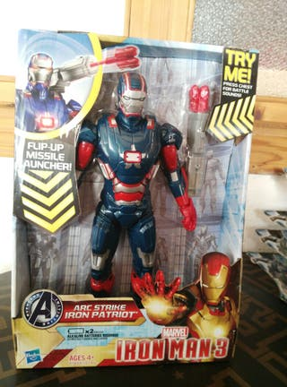 figura nueva ironman 3 arc strike iron patriot