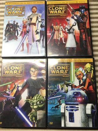 4 Peliculas StarWars The Clone Wars colección 2009