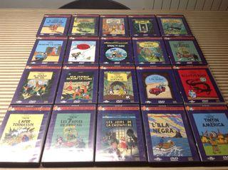 Colección 20 películas dvd Tintin aventuras Herge