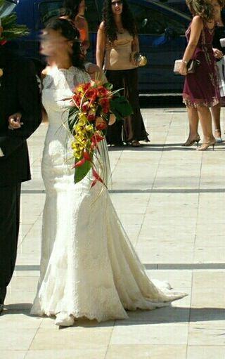 vestido de novia talla 40 de segunda mano en badajoz en wallapop
