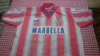 camiseta atlético de Madrid retro , final copa 96